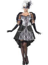 NEW Ladies Dark Angel Baroque Masquerade Fancy Dress Halloween Costume