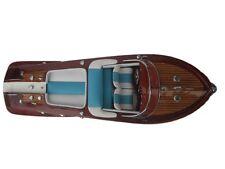 "Quality Wooden Speed Boat 20"" Wood Model Boat L50 Handmade Italian Speed Boat"