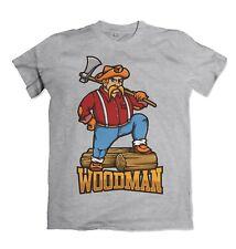 Woodman mens t shirt Lumberjack wood S-3XL