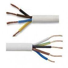 1.5 mm 4 y 5 Core Blanco Eléctrico Cable Flex Flexible Cable Red 240 V voltios