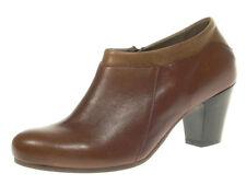 LILIMILL Damenschuhe Ankle Boots GIUSY braun 5639 tequlia cognac Echtleder Pumps