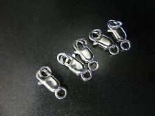 5/10 Plata Esterlina 925 Oval langosta Gatillo Broches joyería encontrar 10mm Y 12mm