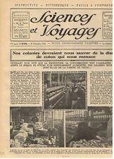 SCIENCES ET VOYAGES 1924 COTON COLONIES BUCHERON CANADA LE PAIN ISLAM ISLAMISME