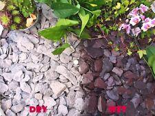 1-30kg 40mm Plum Slate Gravel Chippings Pathway Deter Weed Plants Garden Borders