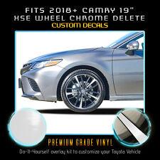 "2018-2020 Toyota Camry 19"" XSE Wheels Rim Chrome Delete Vinyl Kit- Glossy Matte"