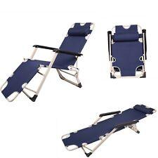 Textoline Sun Lounger Chair Recliner Garden Bed Reclining Head/Armrest Folding
