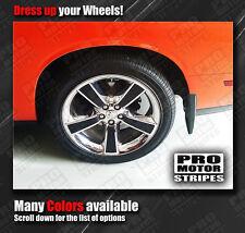 "Dodge Challenger 18"" Wheels Rims Insert Overlay Stripes Decals (Choose Color)"