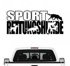 Sportrettungshunde Hundesport Auto Aufkleber Hund Folie Mantrailing Suchhunde