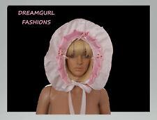 Bonnet, adult baby, sissy satin bonnet, hat lolita cosplay