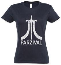 Parzival Damen T-Shirt Parcival Ready Fun Gamer Player One Games Gaming Nerd
