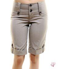 Womans capri career dress wide waist cuffed long short Trendy S M L
