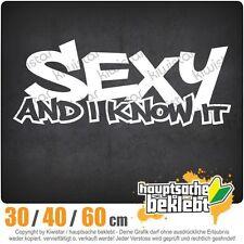 Sexy and I know it chf0658  in 3 Größen JDM  Heckscheibe Aufkleber