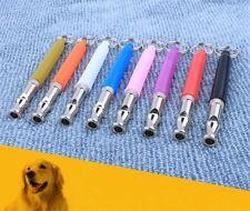 Perro Cachorro Silbato Ultrasónico Pitch Sonido Del Animal Doméstico Ajustable Llavero Regalo de entrenamiento