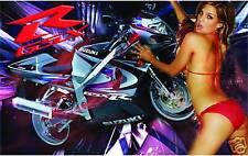 SUZUKI GSXR MOTORCYCLE BANNER SIGN FLAG HIGH QUALITY!!