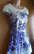 NewWT Karen Millen white textured cotton floral print skater dress UK 14 & 16