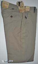 Pantalone uomo 46 48 50 52 54 56 cotone piquet elasticizzato beige slavato slim