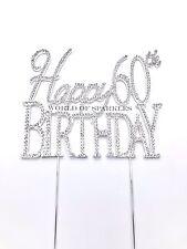 Diamantes De Imitación Strass Pincho Tartas Decoración Feliz Cumpleaños 30th40th