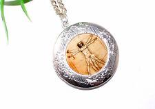 Medaillon zum öffnen +++ LEONARDO DA VINCI +++ Motivauswahl +++ Halskette Kette