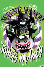 Lego Batman - Jokers Madhouse - Film Poster Plakat Druck - Größe 61x91,5 cm