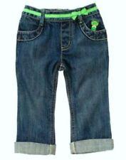 Gymboree girl jean denim pants capri ankle spring garden frog leapin lily pads 3