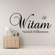 Wandtattoo Witam polnisch  Herzlich Willkommen Wandsticker Wohnzimmer,Diele,