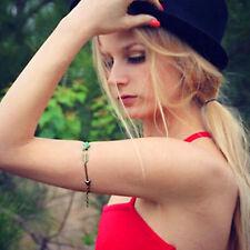 Women lady boho bohemian turquoise Love Arrow Arm band Bracelet Chain harness