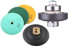 "3/16"" Demi-bullnose Profiling & Polishing Kit for Granite / Concrete Edge Works"