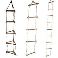Strickleiter mit 5 o. 9 Sprossen 3-seitig Sprossenleiter Klettern für Spielturm