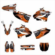 YZ125 YZ250 Graphics Deco sticker kit for Yamaha 2015 2018 #4444 Orange Tribal