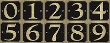 Numeri Civici 8x8cm CANCELLO BIDONE DEI RIFIUTI CON RUOTE ADESIVO WHEELY