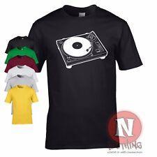 DJ Platine CLUB Danse Rave MUSIQUE HOUSE COOL MARRANT rétro T-shirt vinyle