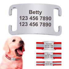 Dog Pet ID Tag Personalized Slide On Slider Name Custom Engraving Noiseless