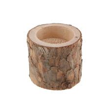 lumière naturelle de thé de chandelier en bois de souche d'arbre pour le