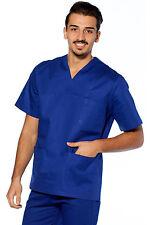 Casacca Medico Uomo Cotone Camice Sanitaria Dentista Infermiere Lavoro  Dottore 57eb3c5f21d7