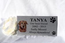 Photo Pet memorial personalised grave plaque sign dog, cat, animal