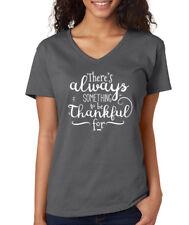 ALWAYS SOMETHING TO BE THANKFUL FOR blessed christian Women's V-Neck T-Shirt