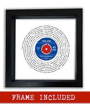 THE JAM THAT'S ENTERTAINMENT vinyl framed print retro vintage Gift PERSONALISED