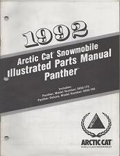 1992 Arctic Cat Panther Snowmobile Parts Manual P/N 2254-749