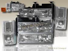 1994-1998 Chevy C10 Pickup Suburban Tahoe Silverado C1500 Headlights Corner 10PC