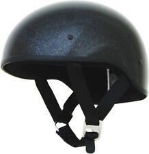 AFX FX-200 SLICK METALFLAKE BLACK Half Helmet DOT FREE SHIPPING
