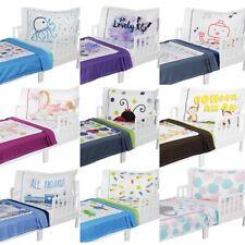 nEw 3pc ROOMCRAFT TODDLER BEDDING - Cute Nursery Minky Blanket Sheet Pillowcase