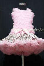FULL Pink Leopard Pettiskirt Pink Ruffles Top Set 1-8Y