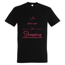 T-shirt Enfant Je Peux Pas J'ai Shopping - 9 couleurs au choix - Mode humour