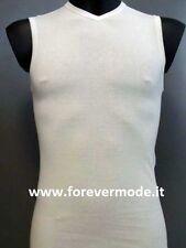 Maglia uomo Gicipi senza maniche con scollo V in cotone pettinato art Georges SV