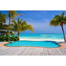 Papel pintado gigante piscina que donne sobre plage1472