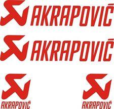 4 PEGATINAS AKRAPOVIC -VINILO - Moto Sponsor - Vinyl - AufKleber - AUTOCOLLANT