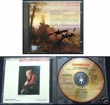 Neeme Järvi Signed Gold CD Ives Symphony 1 Barber Three Essays Jarvi 24k Chandos