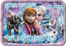 ✿ Die Eiskönigin ✿ Elsa & Anna ✿ Türschild f. Mädchen NEU Din A4 / A5 + Name ✿