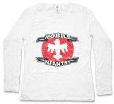 Mobile Infantry logotipo señora manga larga T-Shirt Starship Army Squad Troopers logotipo