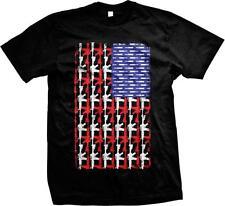 American Gun Flag Second Amendment Cant Ban These USA Pride Ammo Mens T-shirt